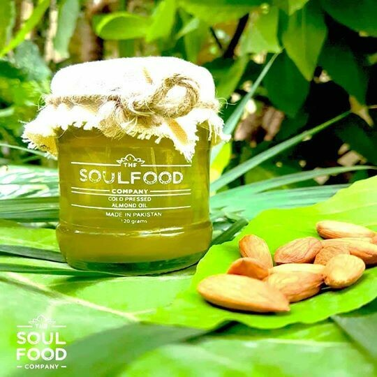 Organic Cold Pressed Almond Oil -120g
