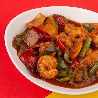 Prawns in Hot Garlic Sauce - 2 Persons Serving