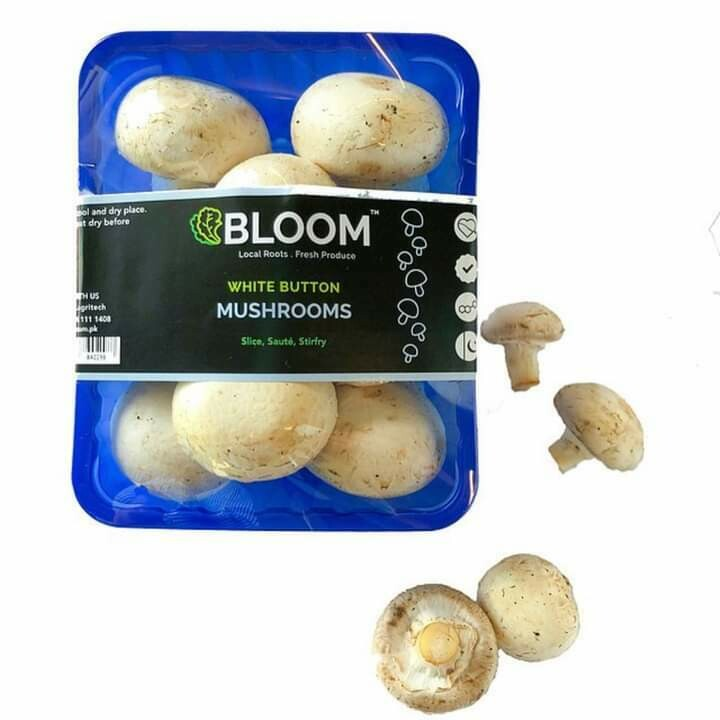 White Button Mushrooms - 250g