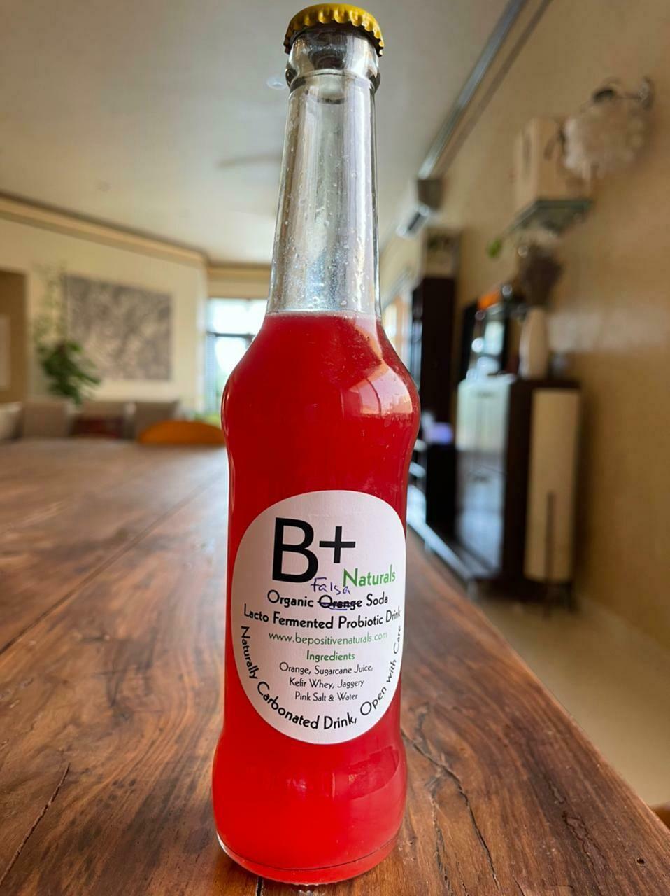 Organic Lacto Fermented Strawberry Soda - 300ml