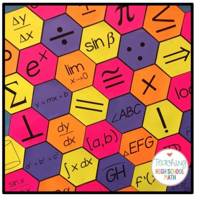 Math Symbols Bulletin Board