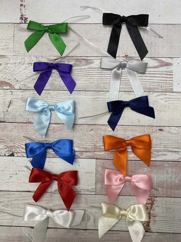 Twist tie bows for 1 dozen