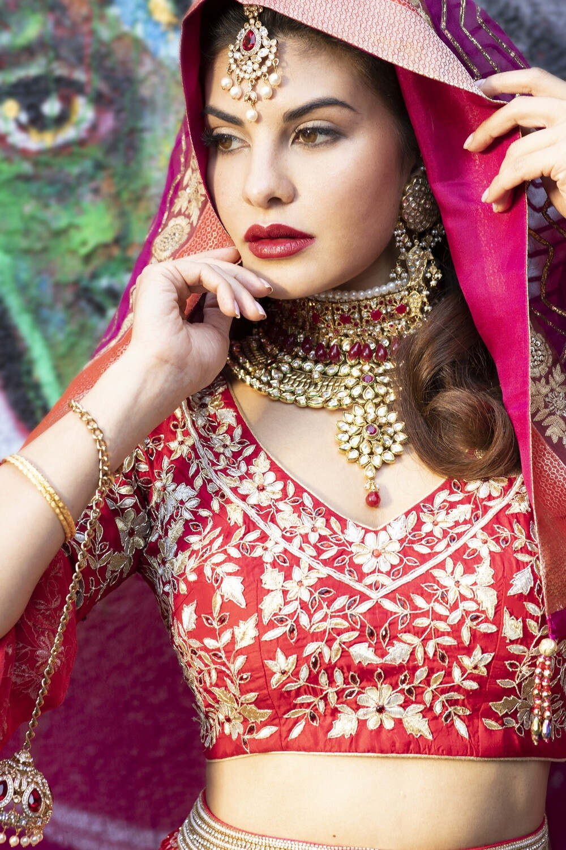 Red Lehenga by Fashion By Rohini