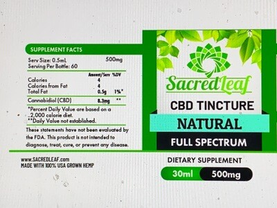Full Spectrum Natural 500 MG