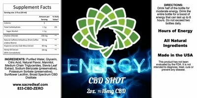 Energy Shots 15 MG