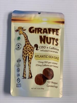 Giraffe Nuts + Caffeine | Atlantic Sea Salt | 15mg Hemp  per piece + 25mg Caffeine