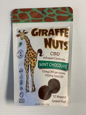 Giraffe Nuts | Mint Chocolate | 15mg Hemp  per piece - 10 Pieces Per package