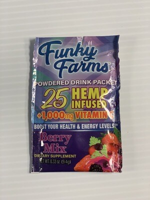 Funky Farms Drink Packet Berry Mix 25mg Vitamin C