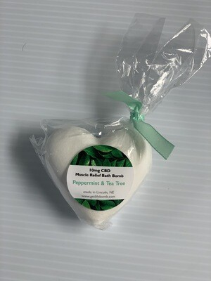Heart Shape 10MG Bath Bombs Muscle Relief