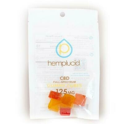 Hemplucid Full-Spectrum CBD Edible Gummy Cubes - 25mg each