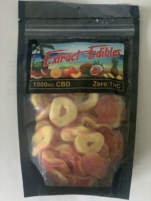 Extract Edibles 1200MG Peach Rings