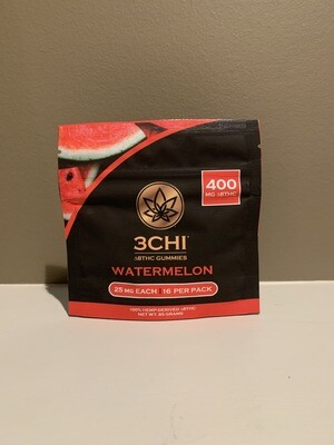 3 CHIDelta 8 THC Gummies 400mg Watermelon
