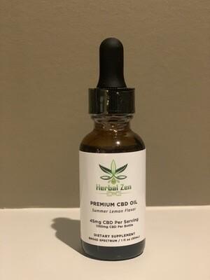 1350 MG Summer Lemon Organic CBD Tincture (Broad Spectrum)