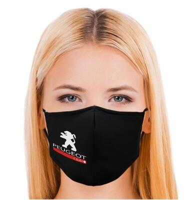 Stoff-Schutzmaske schwarz (waschbar)