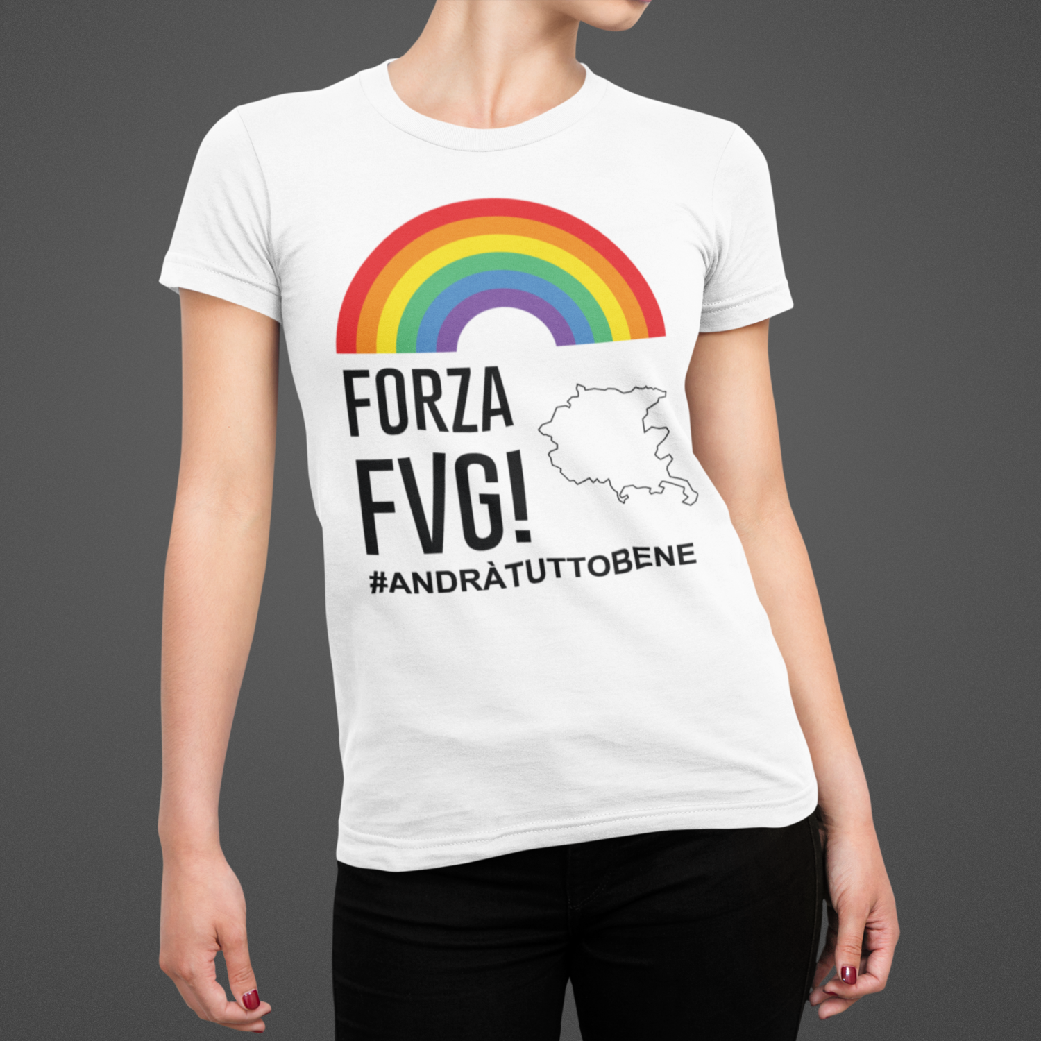 Tshirt Donna Forza FVG ver.3