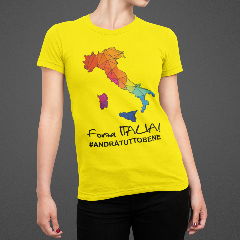 Tshirt Donna Forza Italia ver.2
