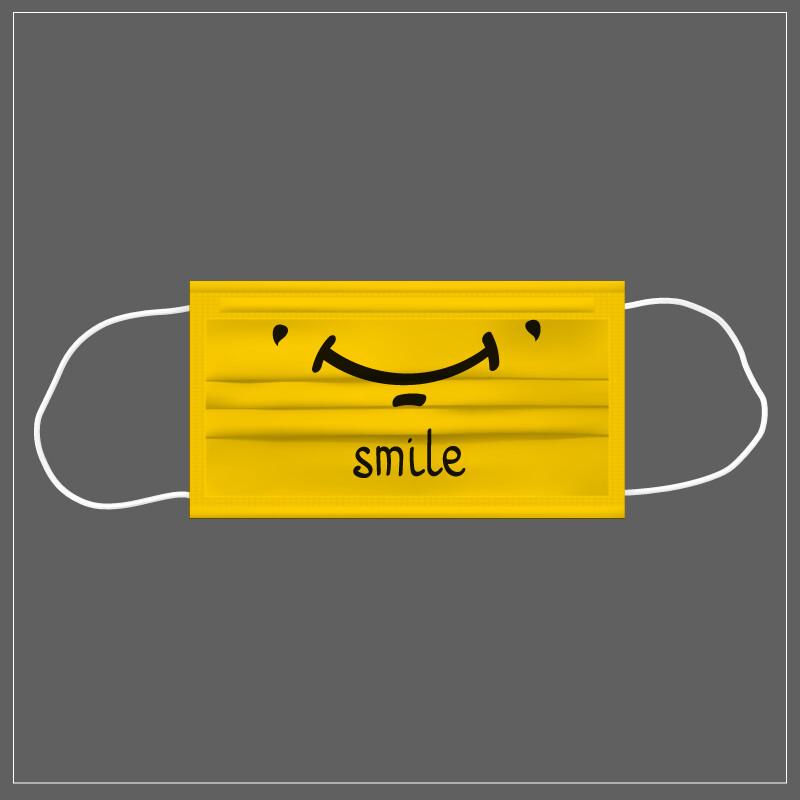Mascherina Riutilizzabile Lavabile SMILE YELLOW
