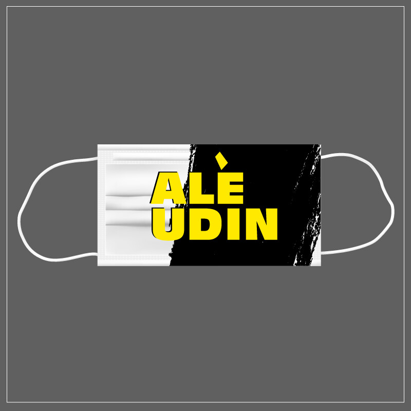 Mascherina Riutilizzabile Lavabile Calcio ALE' UDIN