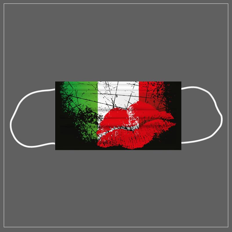 Mascherina Riutilizzabile Lavabile ITALIA BACIO