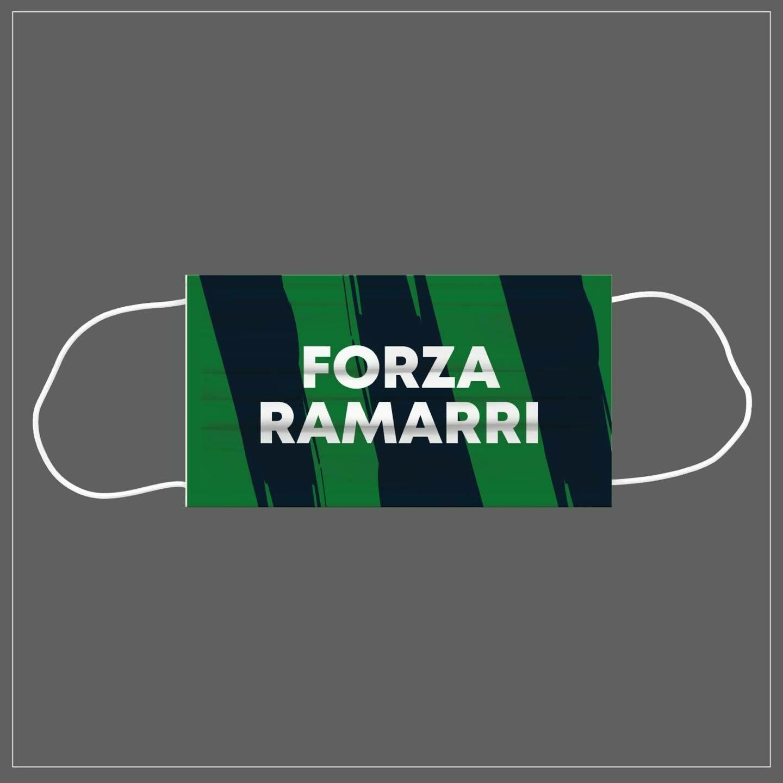 Mascherina Riutilizzabile Lavabile Calcio FORZA RAMARRI PORDENONE