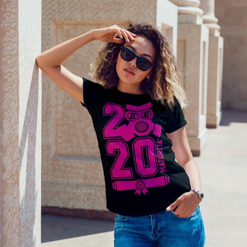 Tshirt Donna MATURA2020 e Mascherina Lavabile Riutilizzabile