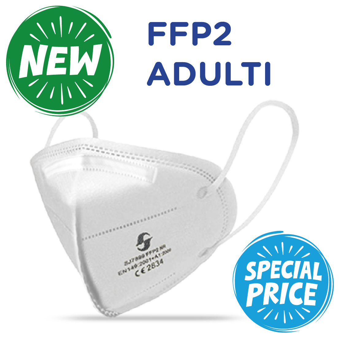art. FFP270 _ FFP2 CERTIFICATA CE 200 PZ - OFFERTA LAST MINUTE (0,71 cad)