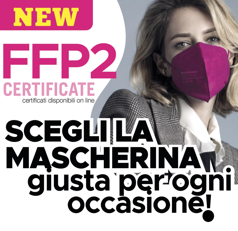 MASCHERINA FFP2 COLORATA 20 pz