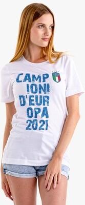 T-SHIRT DONNA ITALIA CAMPIONI EURO2020 ver.5