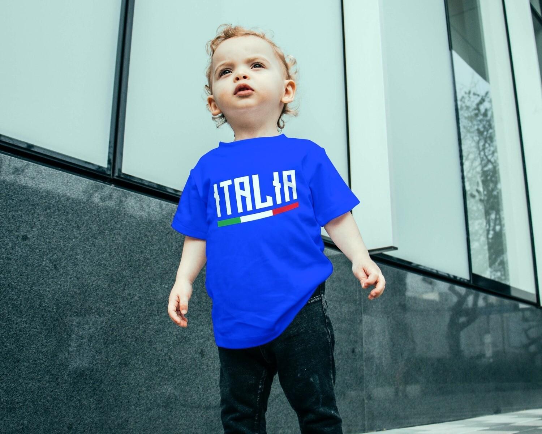 T-SHIRT BAMBINO ITALIA CAMPIONI EURO2020 ver.3