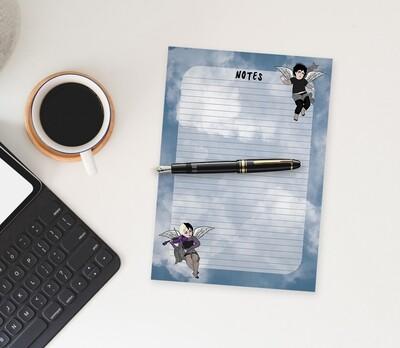 Goth Cherub Notepad - 100 pages