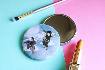 Goth Cherubs 76mm Pocket Mirror