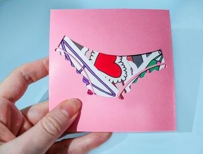 Lingerie Sticker set