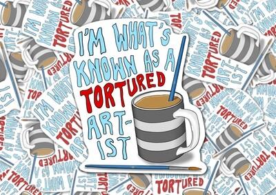 Tortured Artist Sticker