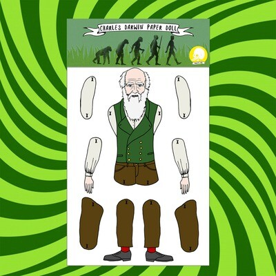 Charles Darwin Paper Doll puppet