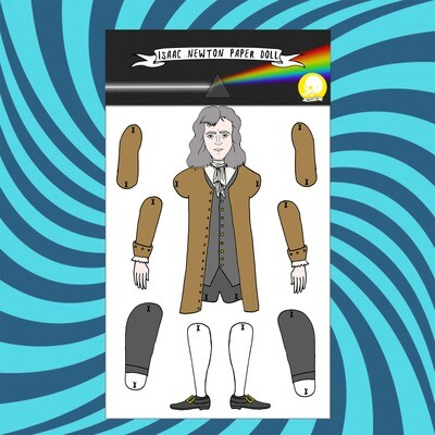 Isaac Newton paper doll puppet