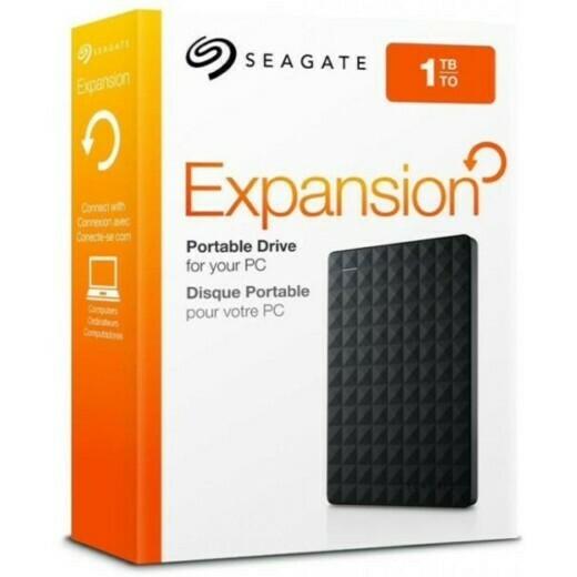 """ЖЕСТКИЙ ДИСК SEAGATE USB 3.0 1TB STEA1000400 EXPANSION PORTABLE (5400 ОБ/МИН) 2.5"""" ЧЕРНЫЙ"""