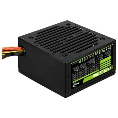 Блок питания AEROCOOL VX-500 PLUS ATX 500W (24+4+4PIN) 120MM FAN 3XSATA RTL