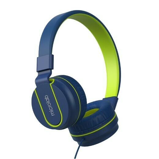 MICROLAB Наушники с микрофоном K763D blue, 20Hz - 20KHz