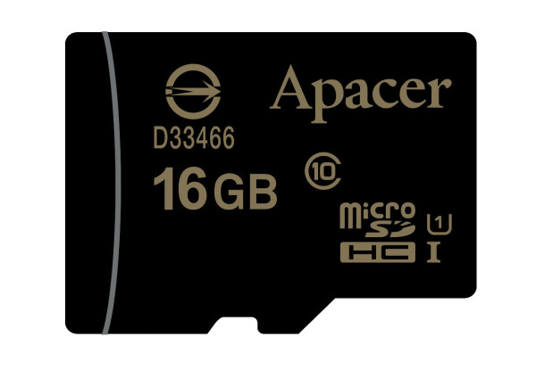 Карта памяти Apacer microSDHC UHS-I 16GB сlass10 без адаптера (AP16GMCSH10U1-RA)