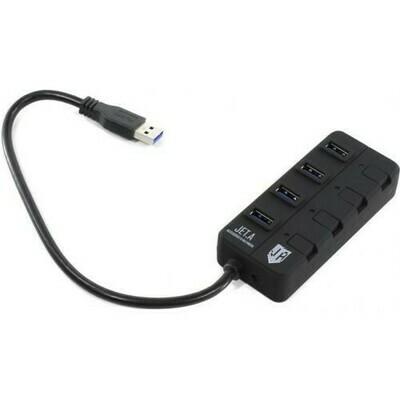 Концентратор USB 3.0 Jet.A JA-UH35 Black