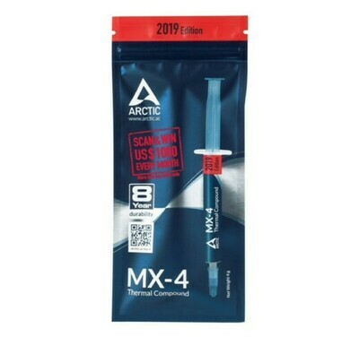 ТЕРМОПАСТА ARCTIC MX-4 THERMAL COMPOUND 4-GRAMM 2019 EDITION (ACTCP00002B)
