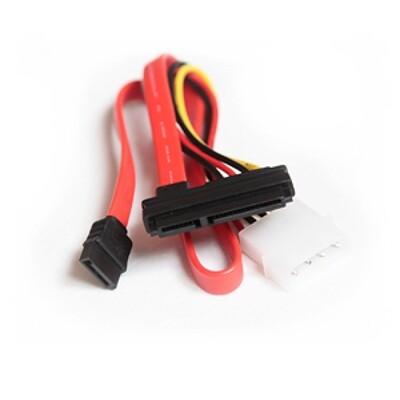 Кабель комбинированный molex+SATA/SATA, 4pin+7pin-15pin+7pin