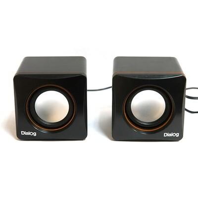 Компактная акустическая стереосистема с питанием от USB AC-04UP Black-Orange