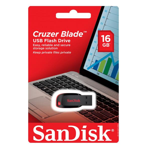 Память USB 2.0 Sandisk 16Gb Cruzer Blade SDCZ50-016G-B35 USB2.0 черный