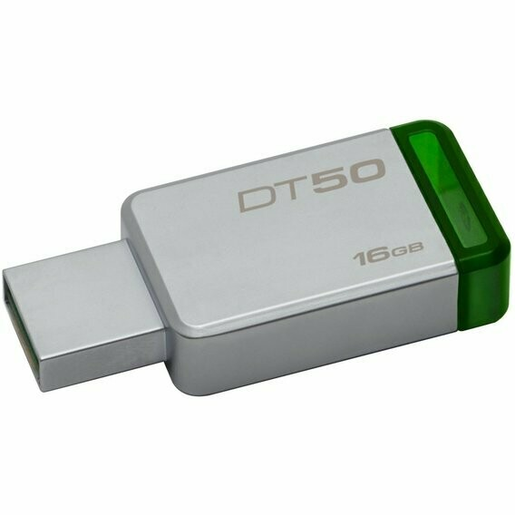 Память USB 3.0 Kingston 16Gb DataTraveler 50 DT50/16GB USB3.0 зеленый
