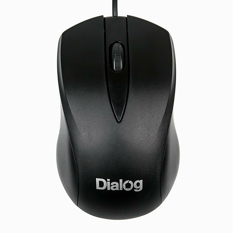 Мышь проводная MOC-15U Dialog Comfort Optical - 3 кнопки + ролик прокрутки, USB