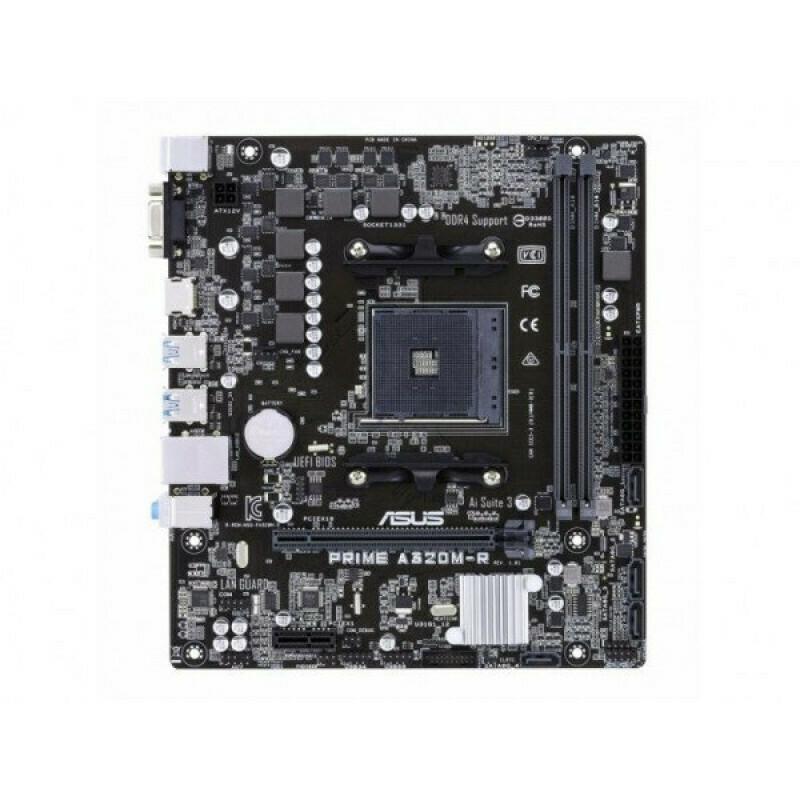 Материнская плата ASUS PRIME A320M-R-SI, SocketAM4, AMD A320, mATX, Ret (White Box)