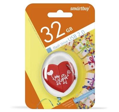 Флеш-драйв Smart Buy USB 32GB Wild series Сердце