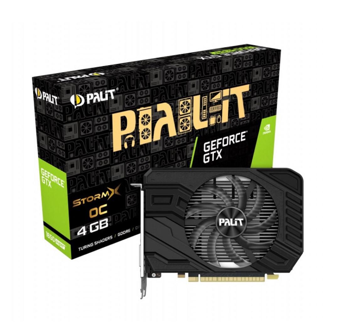 Видеокарта Palit PCI-Ex GeForce GTX 1650 Super StormX OC 4GB GDDR6