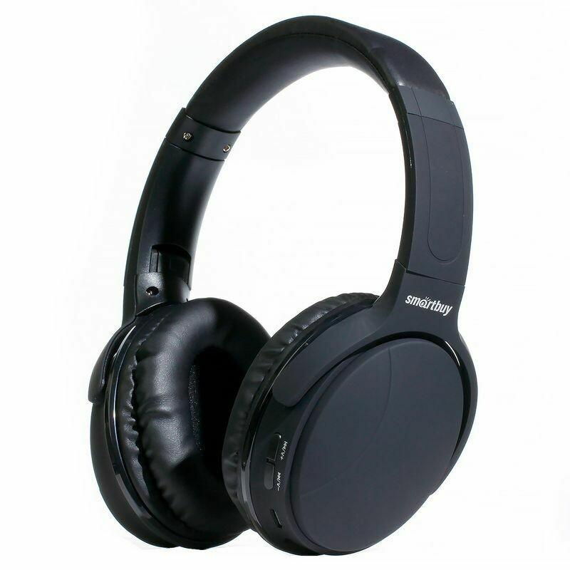 Гарнитура Bluetooth Smartbuy Cyclone, MP3, FM, накладная, черная (SBH-7030)